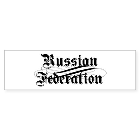 Russian Federation Gothic Bumper Sticker