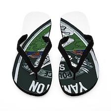 Yankton Police patch Flip Flops