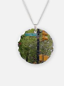 Central Park street sign Necklace