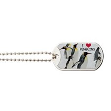 Love the Penguins Dog Tags