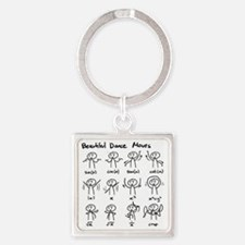 Beautiful (math) dance moves Square Keychain