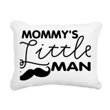 Mommys Little Man Rectangular Canvas Pillow
