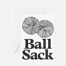 Ball Sack Greeting Card