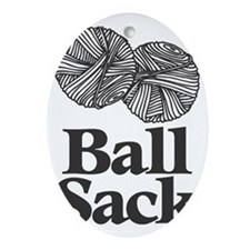 Ball Sack Oval Ornament