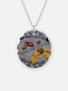Imagine Strawberry Fields NY Necklace Circle Charm