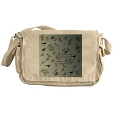 md birds and leaves gradient poetry Messenger Bag
