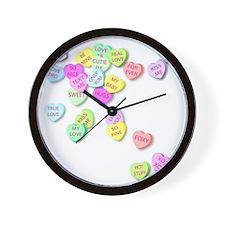 Conversation Hearts T Shirt Wall Clock