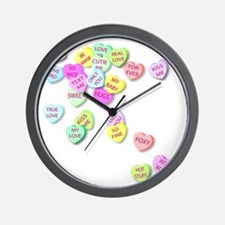Conversation Hearts T Shirt Wall Clock