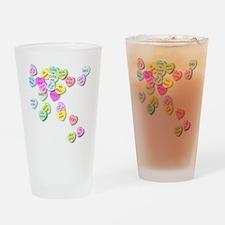 Conversation Hearts T Shirt Drinking Glass