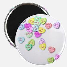 Conversation Hearts T Shirt Magnet