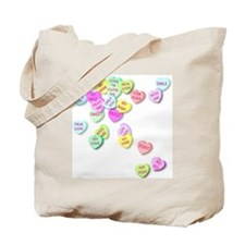 Conversation Hearts T Shirt Tote Bag