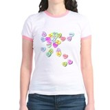 Candy hearts Jr. Ringer T-Shirt