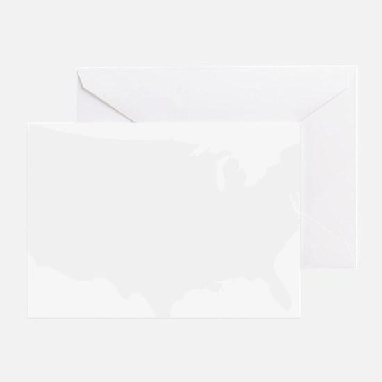 White USA Greeting Card