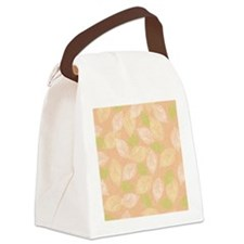Layered Leaves_Peach Back Canvas Lunch Bag
