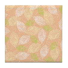 Layered Leaves_Peach Back Tile Coaster