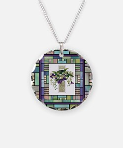 Stained Glass Cross Necklace