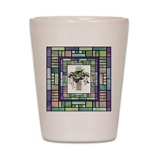 Stained Glass Cross Shot Glass