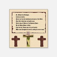 "St. Michael the Archangel P Square Sticker 3"" x 3"""
