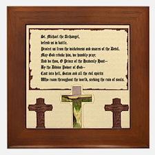 St. Michael the Archangel Prayer (Cros Framed Tile