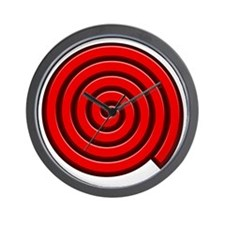 Red Spiral Wall Clock