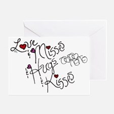 Love & Misses & Hugs & Kisses Greeting Card