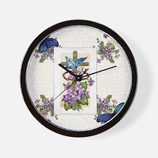 Violet Redemption Wall Clock