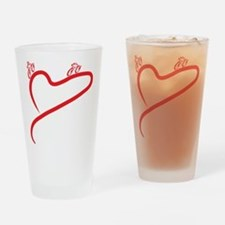 Love Cycling Drinking Glass