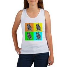 Owl In Color dark Women's Tank Top