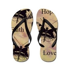 hope faith love Flip Flops