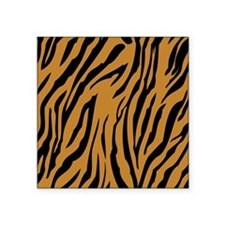 "Tiger Print Square Sticker 3"" x 3"""