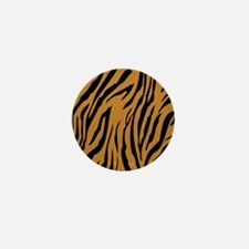 Tiger Print Mini Button