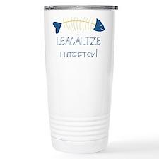 Legalize Lutefisk Fish Travel Mug