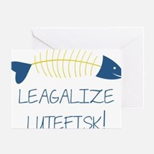 Legalize Lutefisk Fish Greeting Card