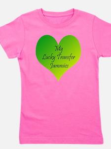 Lucky Transfer Jammies Surrogacy Girl's Tee