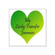 "Lucky Transfer Jammies Surr Square Sticker 3"" x 3"""
