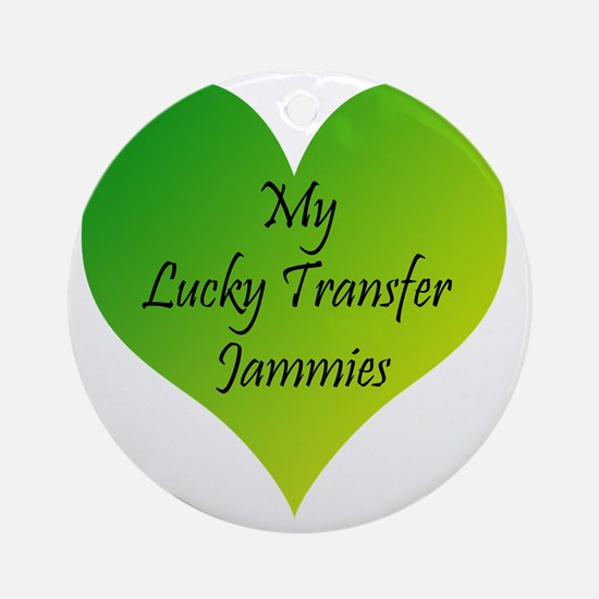 Lucky Transfer Jammies Surrogacy Round Ornament