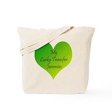 Lucky Transfer Jammies Surrogacy Tote Bag