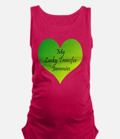 Lucky Transfer Jammies Surrogac Maternity Tank Top