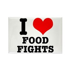 I Heart (Love) Food Fights Rectangle Magnet
