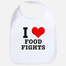 I Heart (Love) Food Fights Bib