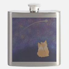 Corgi Night Love Flask