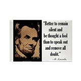 Abraham lincoln quote Magnets