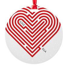 I Love Ella Ornament