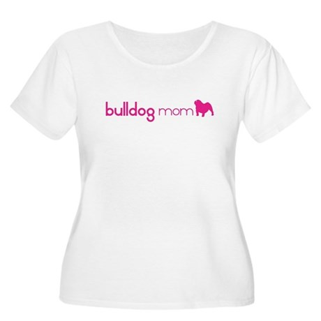 Bulldog Mom Women's Plus Size Scoop Neck T-Shirt