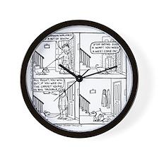 Samsons Pee In Snowboot Wall Clock