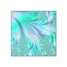 "Aqua shower curtain Square Sticker 3"" x 3"""
