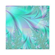 Aqua shower curtain Queen Duvet