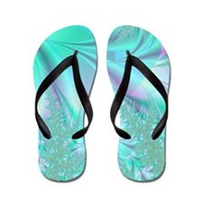 Aqua shower curtain Flip Flops