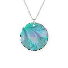 Aqua shower curtain Necklace