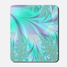 Aqua shower curtain Mousepad